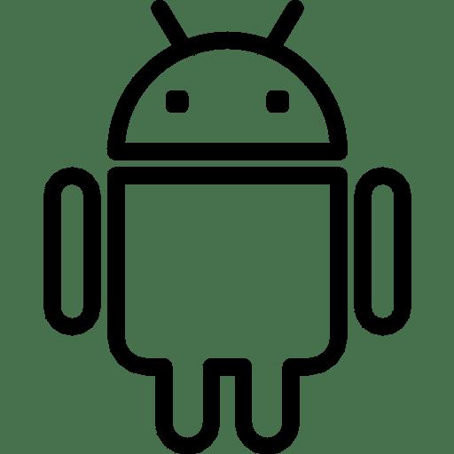 Black Android Logo