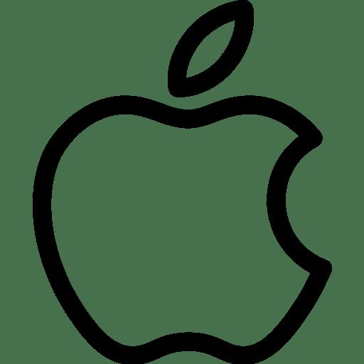 Apple black and white logo